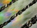 天然石ビーズ ヘマタイト磁気入ツイスト スクエア 5×8mm・1連40cm50個前後