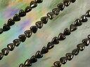 天然石ビーズ ヘマタイト磁気入ハート 6×6×3mm・1連40cm74個前後