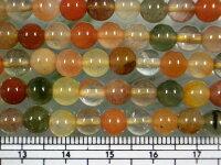 ミックスルチルクオーツ丸玉6mm・10個