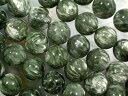 天然石ビーズ セラフィナイト丸玉12mm・1連40cm33個前後