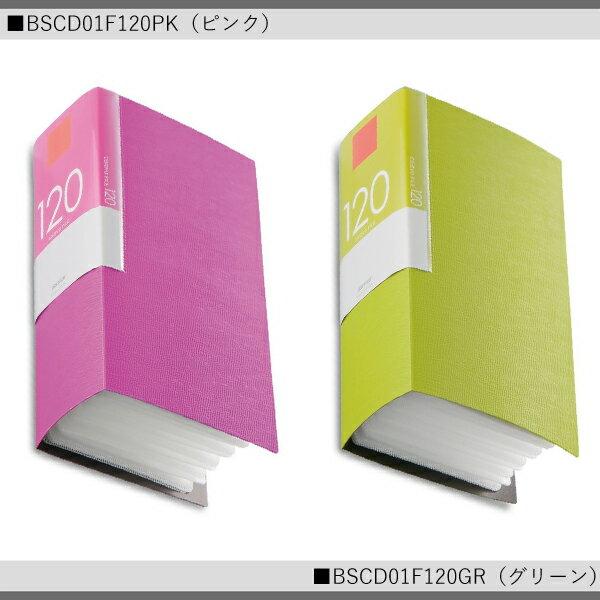 BUFFALO CD&DVDファイルケース ブックタイプ 120枚収納 BSCD01F120 PK BK GR BG BL   【SK00220-Q】
