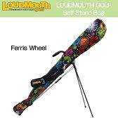 """[クーポン有][日本規格]Loudmouth """"Ferris Wheel""""Self Stand Bag(ラウドマウス フェリスホイール セルフスタンドキャリーバッグ) LM-CC0001[新品]観覧車花火メンズ/レディース/子供用子ども用こども用[TW10]"""