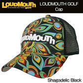 """[クーポン有][20%off][日本規格]Loudmouth(ラウドマウス) 2016 Cap(Hat) """"(020)Shagadelic Black"""" ラウドマウス メッシュキャップ(ハット) """"シャガデリックブラック"""" 726105[新品]ゴルフウェア帽子メンズ/レディース/子供用子ども用こども用"""