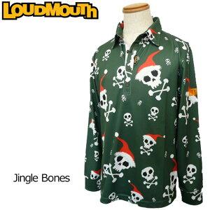 【メール便可250円】ラウドマウス メンズ 長袖ポロシャツ (Jingle Bones ジングルボーンズ) 726502(041)【40%off】【日本規格】【新品】 16FW 男性用 ゴルフウェア トップス 派手 な 柄