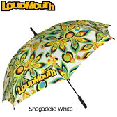 """[クーポン有][日本規格]Loudmouth/ラウドマウス 2016 """"Shagadelic White"""" アンブレラ 726114-003 """"シャガデリック ホワイト""""[新品]雨傘日傘パラソル"""