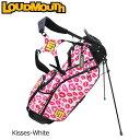ラウドマウス 2020 8.5型 軽量 スタンドバッグ Kisses White キッスホワイト L...