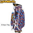 ラウドマウス 9型 軽量 キャディバッグ (アンティークフラッグ Antique Flag) LM-CB0008/778994 (158)【日本規格】【新品】18FW Loudmouth Bag ゴルフ用バッグ メンズ レディース 派手 派手な 柄 目立つ 個性的