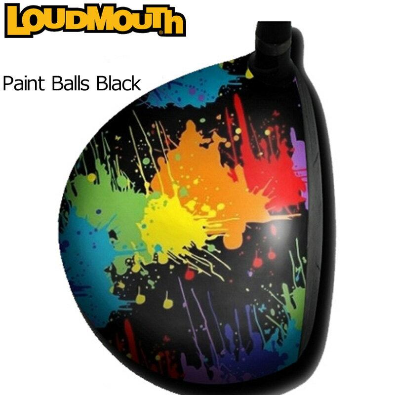 """Loudmouth """"Paint Balls Black"""" Driver Skin(ラウドマウス ドライバースキン/ドライバーステッカー) ペイントボールズ ブラック【新品】ドライバーシールメンズ/レディース/子供用子ども用こども用"""