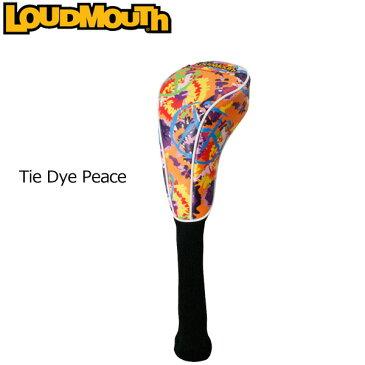 【30%off】【日本規格】ラウドマウス ヘッドカバー(ドライバー用) (Tie Dye Peace タイダイピース) LM-HC0004/DR/777979(106) 【新品】 17FW Loudmouth 1W用 ゴルフ用品 メンズ レディース 派手 派手な 柄 目立つ 個性的
