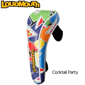 ラウドマウス ヘッドカバー(ユーティリティ用) (Cocktail Party カクテルパーティー)LM-HC0004/UT/777981(059)【30%off】【日本規格】【新品】 17FW Loudmouth レスキュー用 ハイブリッド用 ゴルフ用品 メンズ