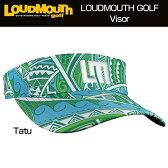 """【New】Loudmouth Performance Visor """"Tatu"""" ラウドマウス サンバイザー """"タトゥー""""【新品】ゴルフウェアキャップメンズ/レディース/子供用子ども用こども用"""