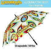 [クーポン有]ラウドマウス 晴雨両用全天候アンブレラ (Shagadelic White シャガデリック ホワイト) UV Umbrella #8420[新品]Loudmouth雨傘日傘パラソル