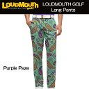 """[40%off][ラスワン36inch]Loudmouth Pants Regular Cut """"Purple Paze""""(ラウドマウス メンズ ロングパンツ レギュラーカット) パープルペイズ[新品]Loudmouthゴルフウェアボトムス[BIG]"""