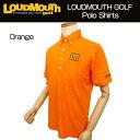[クーポン有][日本規格]2017 Loudmouth(ラウドマウス) メンズ プレミアムカノコ エンボス ポロシャツ (987)Orange オレンジ 767600[新品]17SSゴルフウェア半袖