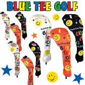 [クーポン有]ブルーティーゴルフ スマイル ニットヘッドカバー ドライバー用/フェアウェイウッド用/ユーティリティ(ハイブリッド)用 全3色[新品]Blue Tee