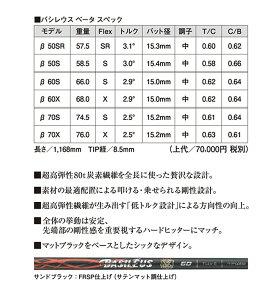 【2015年モデル】フジクラバシレウスβBASILEUSβシャフト単品国内正規品