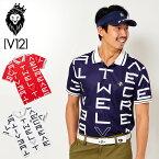 V12 ゴルフ ヴィ・トゥエルヴ 2020 メンズ 半袖 ポロシャツ GALAXY POLO V122010-CT07 【新品】20SS ゴルフウェア V12 GOLF ギャラクシー V12ロゴ V12LOGO MAR2 MAR3