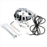 LEDヘッドライトバイク用防水ledフォグランプLEDライトCREE社U5フォグランプアルミ製15W3000LM12V~80V防水仕様ストロボ機能銀色