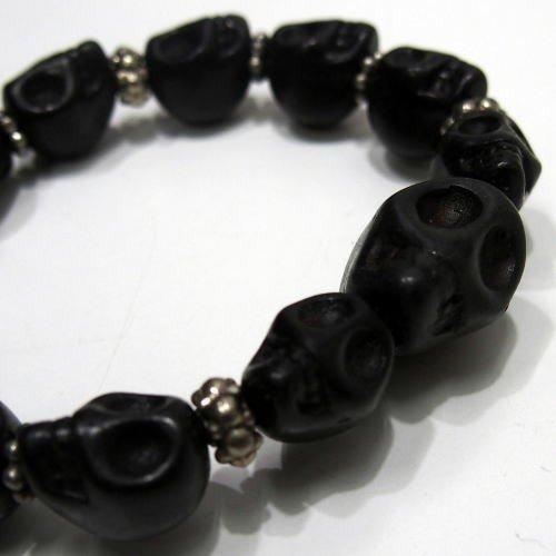 Butler Verner Sails(バトラーバーナーセイルズ)[Colorful&Black Skull Stone Bracelet]マルチカラー  ブラック スカル ブレスレット 日本製!