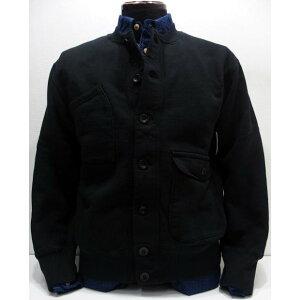 COLIMBO(コリンボ)[GENERAL AVIATION CARDIGAN-Black]スウェットカーディガン スウェットシャツ フルボタン ブラック 日本製
