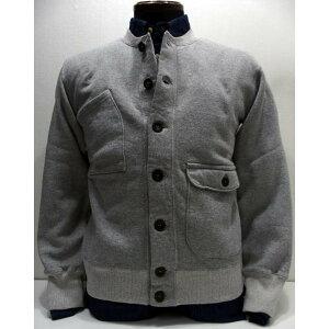 COLIMBO(コリンボ)[GENERAL AVIATION CARDIGAN-Gray]スウェットカーディガン スウェットシャツ フルボタン グレー 日本製