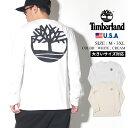 Timberland ティンバーランド ロンT メンズ 大きいサイズ 長袖Tシャツ USAモデル バックプリント ロングスリーブ ロゴTシャツ TB0A1Y65 ストリート ファッション アウトドア
