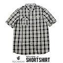 【メール便対応】ROCAWEAR ロカウェア 半袖 シャツ オープンシャツ チェック メンズ ストリート ファッション B系 HIPHOP ヒップホップ R0511W03