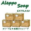 アレッポの石鹸 エキストラ 180g 5個 セット 母の日 贈り物 アレッポ石鹸 EX オリーブ ロ