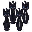 ねこの洗濯ばさみ クロ 4個セット ME11 明邦 〈 洗濯 はさみ 物干し 便利 猫 黒猫 キャラクター ファンシーグッズ 〉 3