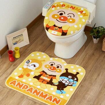 トイレ2点セット(洗浄・暖房便座用フタカバー&トイレマット) アンパンマン TO-26