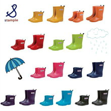 【送料無料!!】stampleスタンプルレインブーツ/レインシューズ/長靴キッズ子供用日本製シンプル中敷き