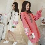 パーカーレディース中学生高校生10代韓国ファッション大きいサイズ大きめオーバーサイズおしゃれ通学ビッグダンス2160