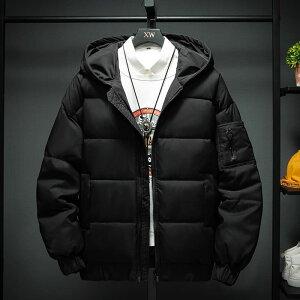 ジャケット メンズ 冬 おしゃれ かっこいい アウター 中綿 ダウン風 ジャンパー 高校生 10代 20代 中学生 韓国 ファッション 黒 ブラック 2403