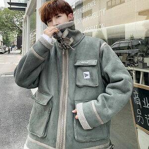 ボアジャケット ボアブルゾン メンズ 高校生 10代 20代 中学生 韓国 ファッション アウター ジャンパー おしゃれ あったかい 冬 大きいサイズ 3103