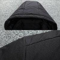 中綿ジャケットメンズアウタージャンパー上着高校生中学生学生10代20代30代おしゃれ冬暖かい黒ブラック2686