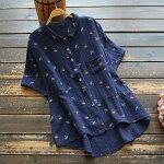 チュニックレディースおしゃれブラウストップスゆったり40代50代60代シニアtシャツ半袖きれいめ春夏秋体型カバー5322