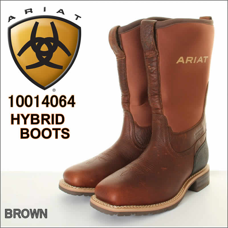 ARIAT 10014064 WATERPROOF HYBRID BOOTS アリアット ウエスタンブーツ アリアト アメリカ 米国ロデオ公認【アリアト カウボーイ ウェスタンブーツ アリアトジーンズ 世界のロデオ大会公認スポンサー Ariatは、騎手を対象とする乗馬靴と衣類の有名ブランドです】