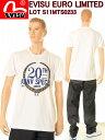 【限定商品!】EVISU JEANS T-SHIRTS【エヴィスジーンズ】EVISU EURO LIMITED T-SHIRTS ユーロ限定 Tシャツ S11MTS0233(ホワイト)【スリーラブ】