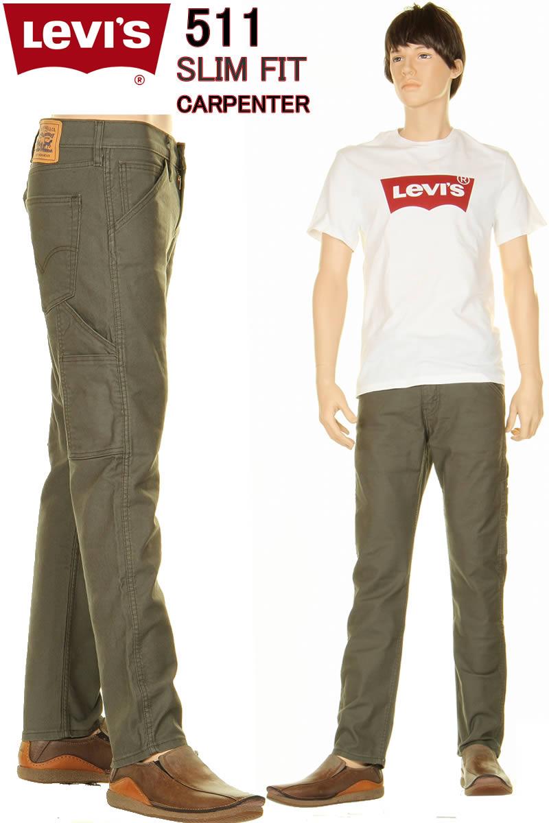 メンズファッション, ズボン・パンツ Levis 58828-0002 Slim Fit Straight Carpenter Pants 511 LEVIS 98