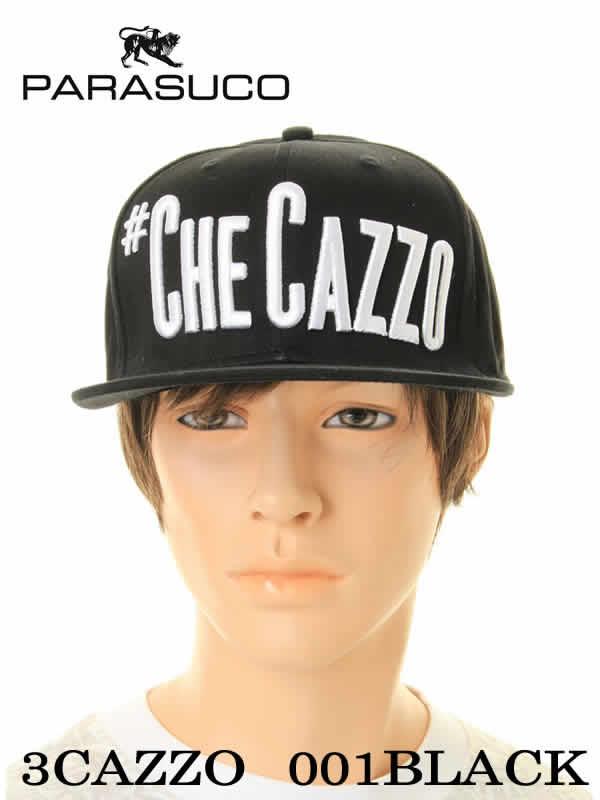 メンズ帽子, キャップ PARASUCO 3CAZZO 001black Checazzo ()