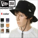 NEW ERA ニューエラ ADVENTURE HAT 6DAY アドベンチャー ダックコットン アウトドアハット New Era ハット 帽子 ぼうし キャップ ブラック 6DAY【0016803 0016804 0016805 0016806 0020613 0020614 アドベンチャーハット メンズ ブラック ネイビー黒】