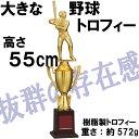 トロフィー VBL-3542A バッター 樹脂製製  高さ約55cm【文字代無料】【送料無料】優勝カップ 卒団 卒業 記念品 ゴルフ サッカー 野球 VAL-3542A