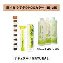 【 選べる 1剤 2剤 セット 】ナプラ napla ケアテクト CARETECT OGカラー グレイファッション 80g 1剤 ナチュラル ナシードオキシ 3% 6% 2.4%