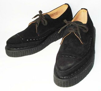 Shipping & cash on delivery fee free regular agency shop SID wear model George Cox (George Cox) rubber sole 3705 V Gibson Corrugated Rand & Sole Black Suede fs3gm