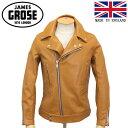 正規取扱店 JAMES GROSE (ジェームスグロース) G09-81 MEN'S MANILA JACKET (メンズ マニラ レザージャケット) Cow hide leather TAN JG013