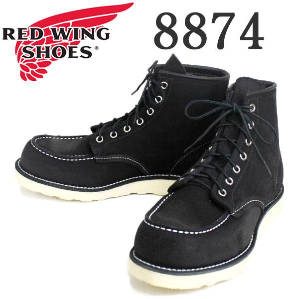 正規取扱店 RED WING(レッドウィング) 8874 6inch CLASSIC MOC TOE ブーツ Traction Trad Sole BLACK ABILENE ROUGHOUT:THREE WOOD