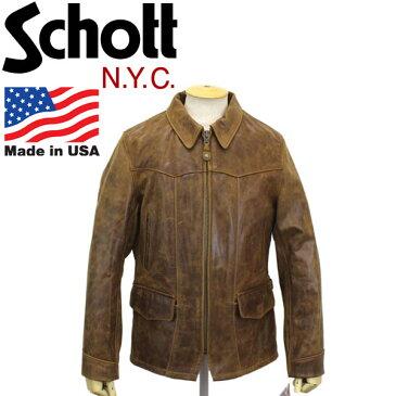 正規取扱店 Schott (ショット) 532 VINTAGE LOOK COWHIDE JKT (ビンテージルックカウハイドジャケット) BROWN