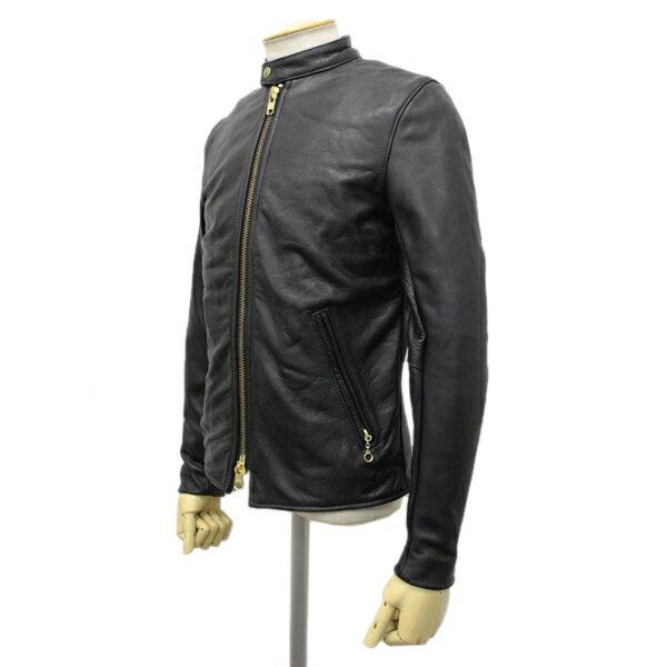 正規取扱店 VANSON(バンソン) B CUSTOM2 UNISEX(Bカスタム2) シングルライダースジャケット 別注タイトフィット BLACK ブラック
