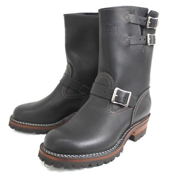 正規取扱店 正規ディーラー Wescoウエスコ Boss ボス Black ブラック,9height,#100 sole,2straps,エンジニアブーツ BS68:THREE WOOD