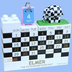 ELMER ブロック式 万年カレンダー(ブラック)